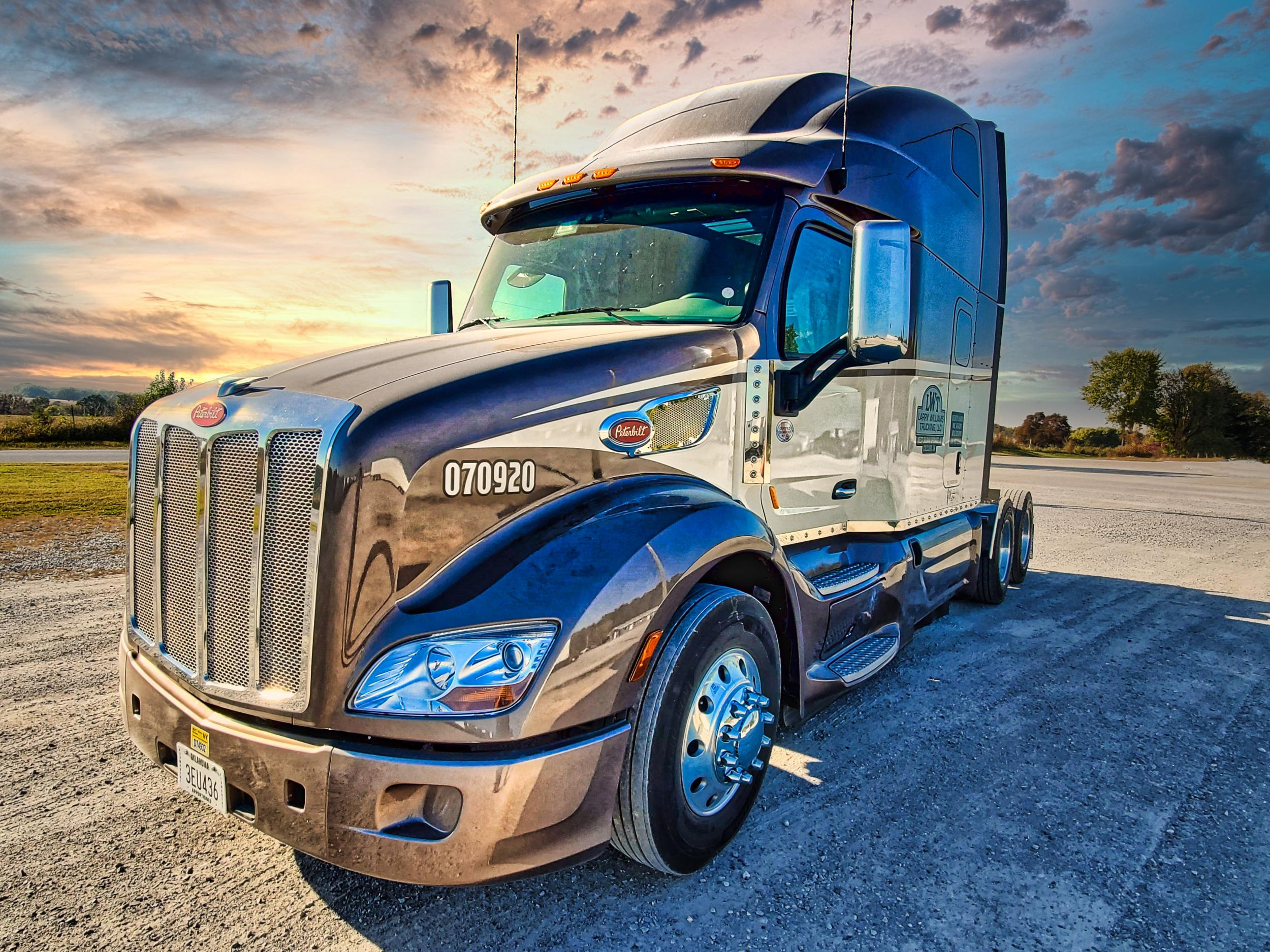 Peterbilt Truck Sunset